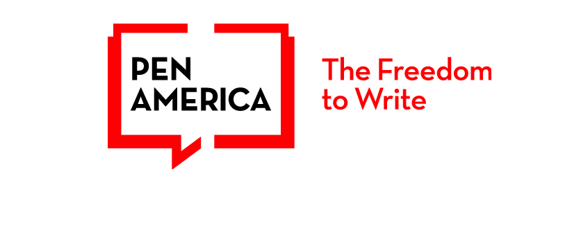 """PEN America logo with the words """"The Freedom to Write."""""""